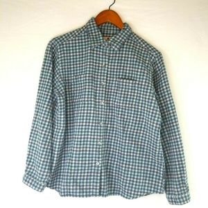 Woolrich Womens Large Petite L/S Button Up Flannel